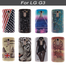 Silicone Case For LG G3 Phone Case For LG G3 d850 d851 d852 d855 ls990 dual d856 G 3 LGg3 Painted Protector Cover Case Coque(China)