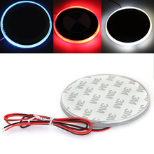 Qook LED Car Decal Sticker Logo Badge Emblem Light Lamp 12V For BMW 3 5 7 Series Red White Blue Color(China)