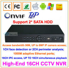 Lihmsek 16CH CCTV IP NVR 1080P Support ONVIF P2P Kinds of Mobile Viewing Free Client Software 16 Channels Security Network DVR(China)