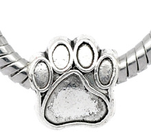 Buy DoreenBeads antique silver Bear's Paw Charm Beads Fit European Charm 11x11mm,20PCs, 2015 new for $2.18 in AliExpress store