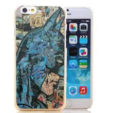 1421-HOQE Retro Vintage Batman Comic Book Transparent Hard Case Cover for iPhone 6 6s plus 5 5s 5c 4 4s Phone Cases
