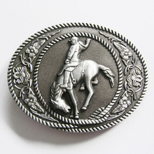 Retail Distribute Original Western Cowboy Horse Rider Belt Buckle BUCKLE-WT050AS Free Shipping(China)