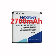 HSABAT 2700mAh BST-38 / BST 38 High Capacity Mobile Phone Battery for Sony Ericsson W580 W580i w760 T650 X10