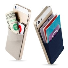 Fashion Adhesive Sticker Back Cover Card Holder Case for Mobile Phone Pouch For Cell Phone Colorful PHONE CASE
