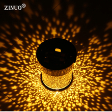 ZINUO Battery Powered LED Starlight Projection Lamp Round Night Light Romance Gypsophila colorful light for bedside bedroom(China)
