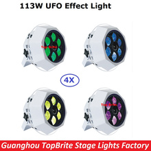 New Arrival 4 Unit LED Bee Eye UFO Effect Light 6X15W 4IN1 RGBW With Safety Cable XLR-3 Pin DMX IN/OUT 110-240V Free Shipping
