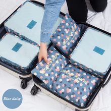 Buy New 6pcs/set Women Travel Storage Bag High Capacity Luggage Clothes Tidy Organizer Pouch Portable Waterproof Storage Case for $17.10 in AliExpress store