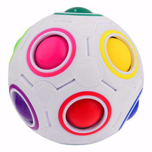 HOT Spherical Cube Rainbow Ball Football Magic Speed Cube Puzzle Children's Educational Toys Cubes GMF