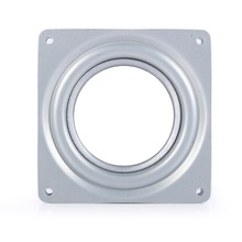 "4"" Square Rotating Swivel Plate Metal Round Turntable Bearing Turntable TV Rack Desk Tool"