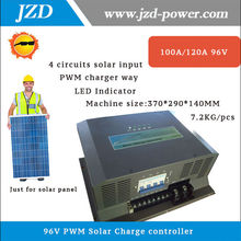 96V 100A/120A PWM Solar Charger Controller with 4 Circuits Input Battery Charge Regulator for 10KW/12KW Solar Panel with PWM