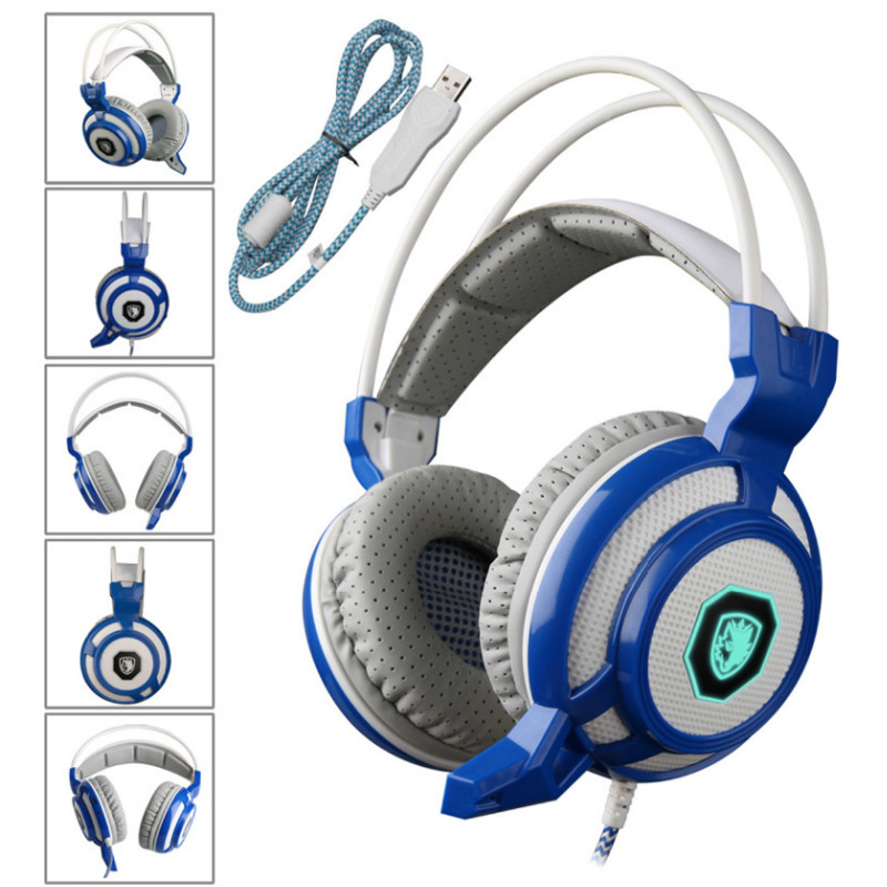 SADES-905 Professional Gaming Headphones Vibration 7.1 Surround Stereo USB Headphones Game Headset With Microphone For PC Gamer<br><br>Aliexpress