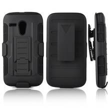 For Moto G DVX XT1032 Shockproof Impact 3 in 1 Armor Cover For Motorola Moto G Case Stand Belt Clip Holster Rugged Phone Cases