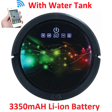 WIFI Smartphone App Control Water Tank Mini Robot Vacuum Cleaner QQ6 Sweeping,Vacuum,UV,Wet And Dry Mop,3350mAH Lithium Battery(China)