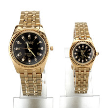 New Nary Brand Lovers' Watches Quartz Men Watch Gold Stainless Steel Women Watches Casual Business Couple Hours 1/ pcs price