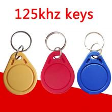 100pcs/lot RFID 125khz Tags TK4100 Rfid Card Token Key Rfid Tag Access Control Acceso Pulseira 3 COLOR Smart Card ID Keyfobs