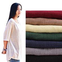 Linen DIY Fabric Solid 23Colors Width:135cm Silk Fabric For Sewing Skirt Curtain Cloth Ragdoll Telas Por Metros Tissus Au Metre
