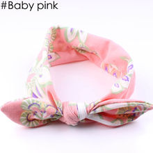 1 PC Fashion Lovely Kids Girls Flower Cotton Hairband Hair Accessories Cute Rabbit Ears BowKnot Head Wrap Headband