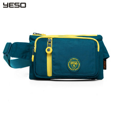YESO Waterproof  Women Men Travel Running Waist  Bag Fashion Small Fanny Pack Nylon Belt  Hip Pouch Bags