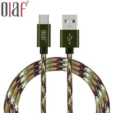Olaf 1M 1.5M 2M Aluminum Durable Braided Mobile Phone Micro USB Data Sync Charging Cable For Samsung Xiaomi Huawei HTC Android
