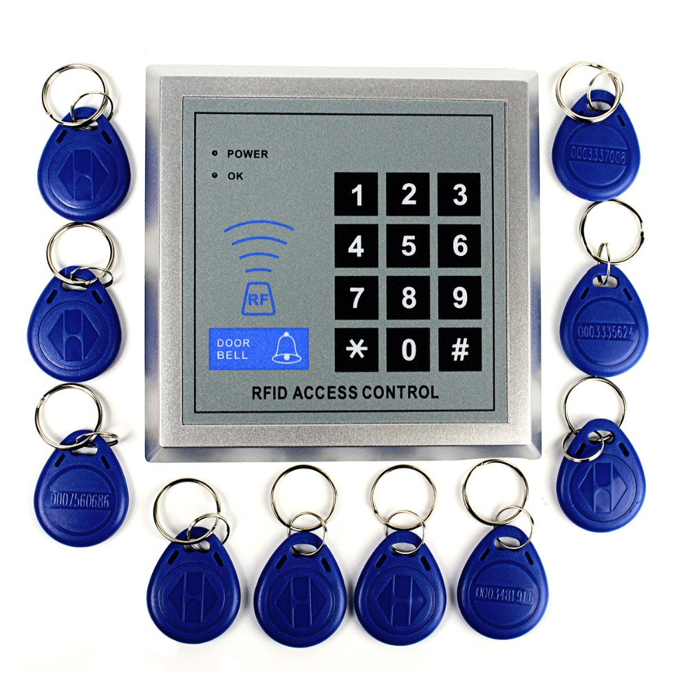 125KHz for RFID Access Control Proximity Entry Door Access Control System+10 Key Fobs for Home Security F1601D<br><br>Aliexpress