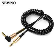 NEWNO Coiled 3.5mm AUX Audio Cable 3.5 Jack Male to Male Gold-Plated Stereo Audio Video Cable for headphone Computer Car speaker(China)