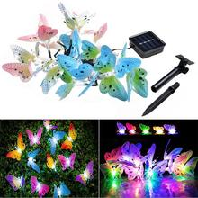 4.9M 20 LED Optic Butterfly Solar String Lights Christmas Fairy Garden Lights for Outdoor Home Lawn Patio Party(China)