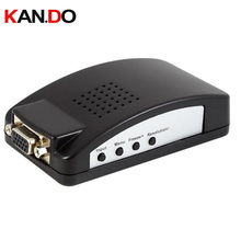 7503M BNC Composite& S Video to VGA  video convertor for display video on PC BNC Composite& S-Video to VGA Converter adapter