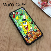 MaiYaCa Cute Cartoon SpongeBob Design PATTERN Phone Cases For iPhone 7 Shell Hard Plastic Phone Case Soft Rubber Edge Back Cover