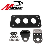 "Black Universal Motorcycle License Plate Bracket Side Mount Horizontal Vertical For Motor Bike Cruiser Chopper 20mm 3/4"" axles(China)"