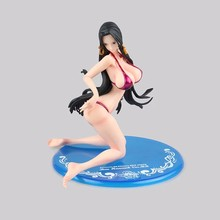 MegaHouse POP Super Bikini Swimsuit Kneeling Boa Hancock Action Figures ONE PIECE PVC Model 18CM BDFG616