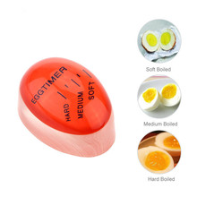 1Pcs Red Egg Perfect Color Changing Timer Yummy Soft Hard Boiled Eggs Cooking Kitchen Eco-Friendly Resin Eggs Timer(China)