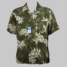 100% silk hawaiian summer holiday coconut tree floral print shirt men big size plus size seda camisa