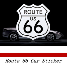 Car styling USA the route 66 motorcycle accessories 3D metal stickers decal emblem fit for cadillac bmw audi jeep chevrolet(China)