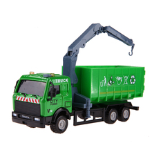 1: 43 Engineering Alloy Clean Sanitation Trucks Car Truck Transport Vehicle with Inertia Function Kids Boys Car Educational Toy(China)