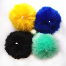 10cm Colorful Cute Faux Rabbit Fox fur Pompon Pendant DIY Fashion Jewelry Handmade Jewelry Accessories(China)