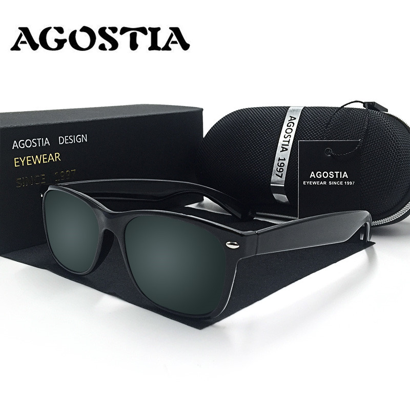 AGOSTIA Polarized Square Sunglasses Men Women Brand Designer Vintage Style 2140 Sun Glasses Driving Fishing Outdoor Eyewears<br><br>Aliexpress