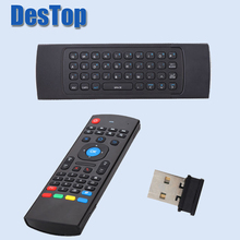 20PCS MXIII Air Mouse Wireless 2.4G Remote Control Keyboard for Android Mini PC TV Box with voice Mic with DHL shipping(China)