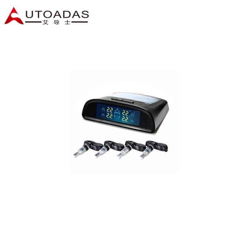 car TPMS with 4 external sensors bar solor engergy tire pressure monitoring system  Diagnostic Tools tpms tool  solar lcd<br><br>Aliexpress