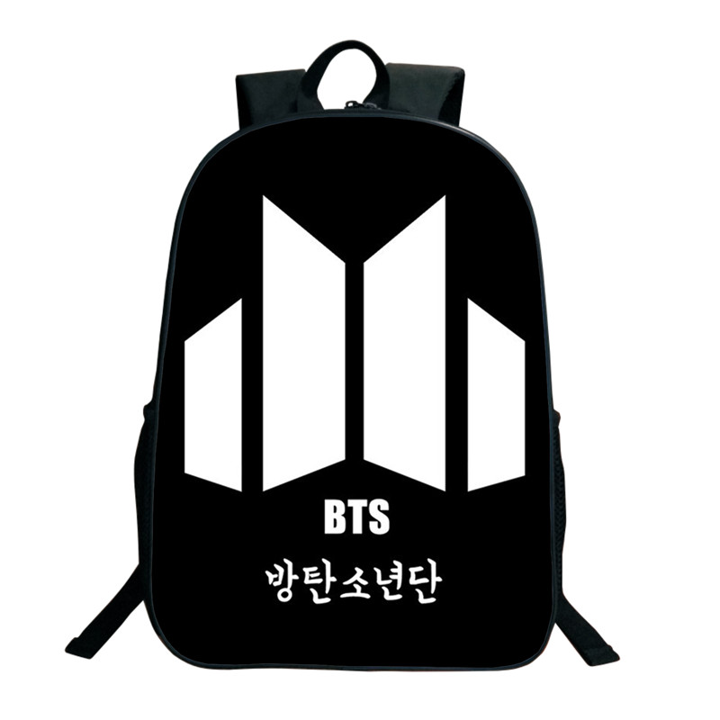 e6c9fee0704a Kpop BTS Bangtan Boys Backpacks 3D Printed School Bags For Women Teenagers 16  Inch Shoulder Bag ARMY Fans Collection SUGA JIMIN