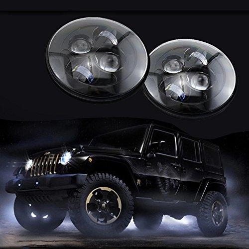 Free Shipping 2 Pcs 7 Inch Round Headlight For Wrangler 97-15 7 LED Headlights Headlamp CJ TJ JK<br><br>Aliexpress
