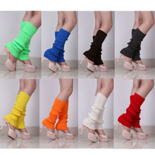 Candy color Knee High Trim Boot Legging One Pair Lady Girl Sweet Crochet Knit Wool Leg Warmer Boot Winter Legging 2017 New Wool(China)