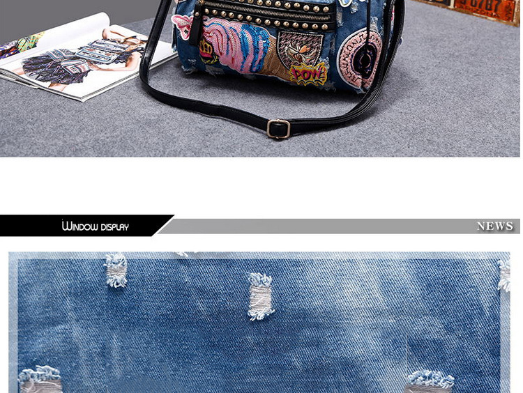 New 2018 Women Luggage Travel Bags Cute Cartoon Daypack Denim Bags ... 942a7adb1f