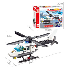 Super Cool DIY Educational Aircraft Airplane Model Building Blocks Kit Brand Small Toy Assembling Bricks For Children Gift(China)