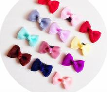 Free Shipping (4pcs) Children cute mini bow Hair Pin baby girl's lovely BB Clip pretty Hairpins Hair Side Clips(China)