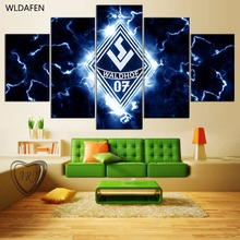 5 Pieces Chelsea Football Club Sports Team Fans Oil Painting On Canvas Modern Home Pictures Prints Liveing Room Poster PH2-1739(China)