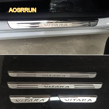 AOSRRUN Free shipping Car accessories Stainless Steel scuff plate door sill For Suzuki vitara 2016 2017 car styling Auto parts(China)