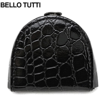 BELLO TUTTI Women Coin Purse Mini Change Wallet for Girls Small Black Hasp Wallet Female Coin Bag Crocodile Pattern W1103(China)