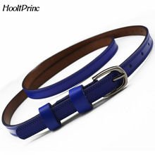 HooltPrinc Women's Belt Alloy Ellipse Buckle Tie A Knot Casual Fasion Belt Solid Color Genuine Leather Belt Multicolor Optional(China)