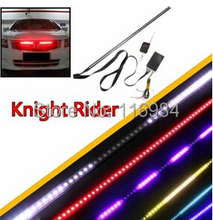 Waterproof Remote 7 Color 48 LED Flash Car Strobe Knight Rider Light Strip Kit +Remote Control