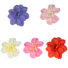 Artificial Freesia Cloth Flower Heads for Photography Wedding Festival Decoration 5 Color